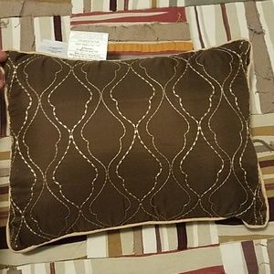 Other - Never Used Brown & Tan Accent Pillow
